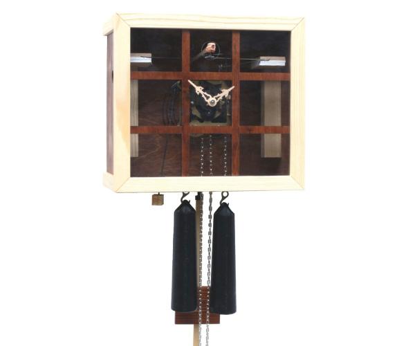Kuckucksuhr Romba FV35-10 Kubus mit Fenster dunkelbraun