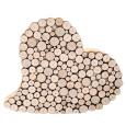 Holzherz mit echten Baumscheiben Haselnuss ca. 20 cm Ø