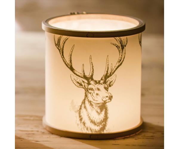 Stitch Light Windlicht Schwarzwald-Hirsch