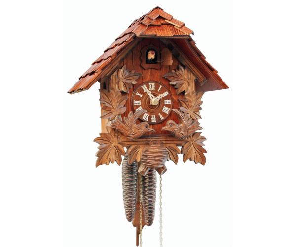 Kuckucksuhr  Schwarzwaldhaus mit Holzschindeldach Romba 1161