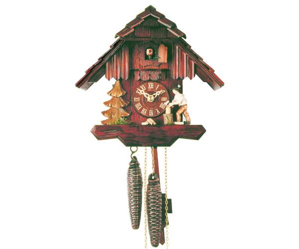 Kuckucksuhr Schwarzwaldhaus mit Holzhacker Romba 1167