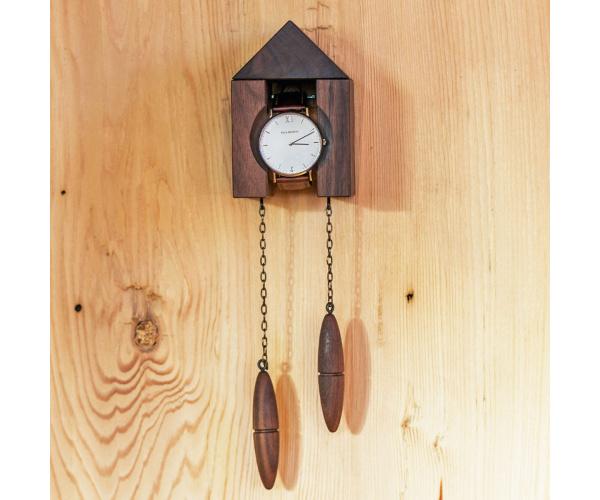 KUCKUHR, edler Wandhalter für hochwertige Armbanduhren
