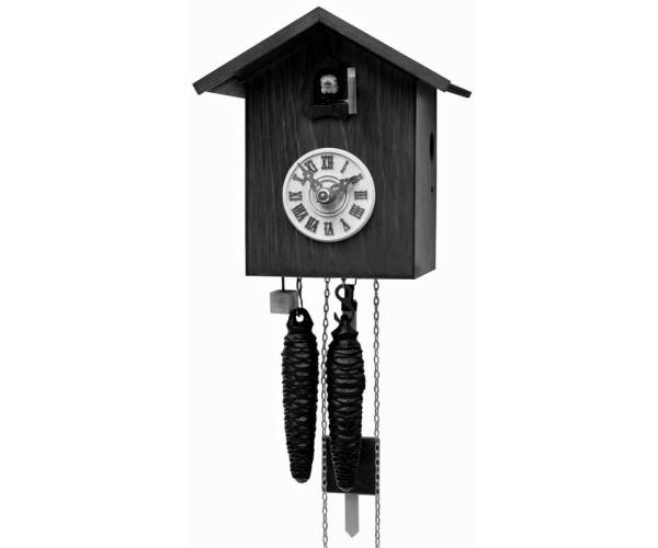 Moderne Kuckucksuhr Vogelhaus schwarz Romba SK12-2