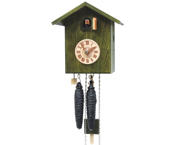 Moderne Kuckucksuhr Vogelhaus grün Romba SK12-4