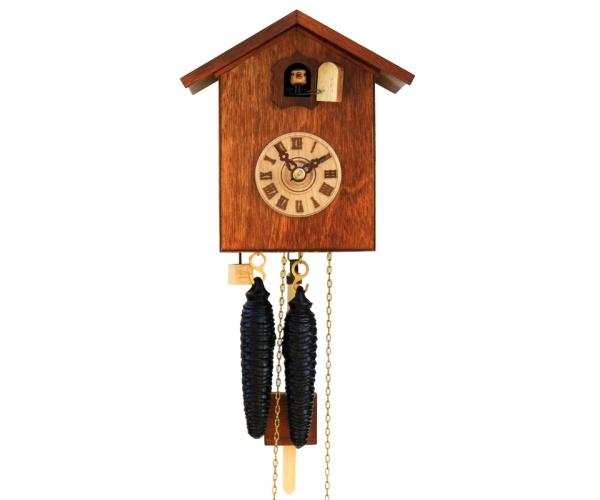 Moderne Kuckucksuhr Vogelhaus braun Romba SK12-10