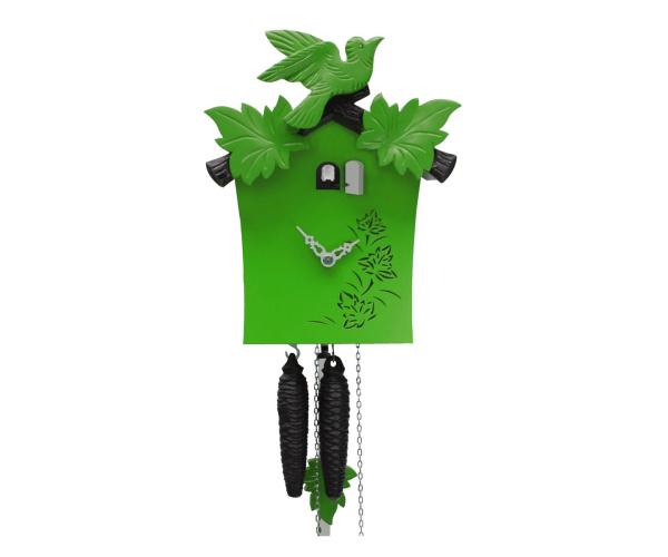 Moderne bunte Kuckucksuhr Romba KB12-4 grün