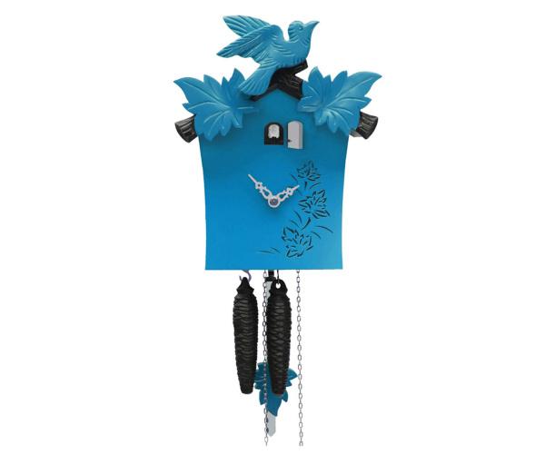 Moderne bunte Kuckucksuhr Romba KB12-5 blau