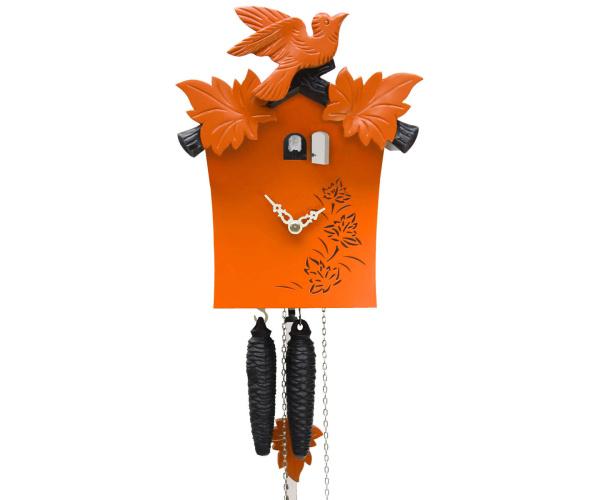 Moderne bunte Kuckucksuhr Romba KB12-13 orange