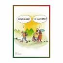 """Schwarzwald-Postkarte """"Ein Wanderer - Einwanderer ?"""""""