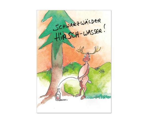 """Schwarzwald-Postkarte """"Schwarzwälder Hirschwasser"""""""
