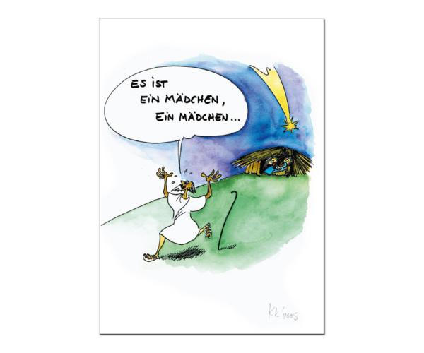 """Schwarzwald-Postkarte """"Es ist ein Mädchen!"""""""