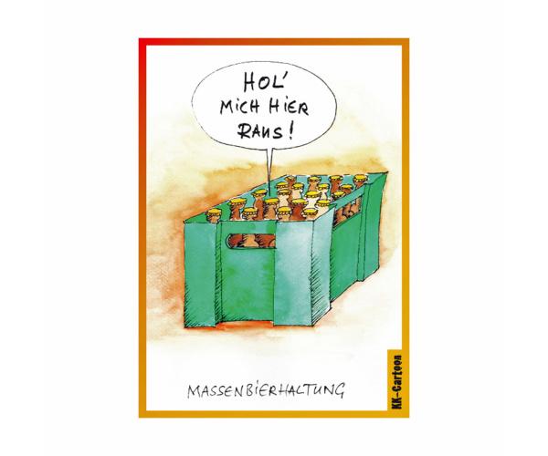 """Schwarzwald-Postkarte """"Massenbierhaltung"""""""