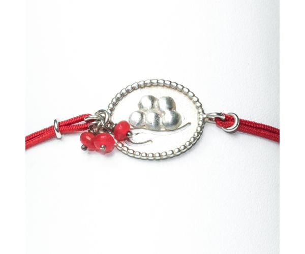 Schwarzwaldmädel Bollenhut-Armband Echtsilber 925