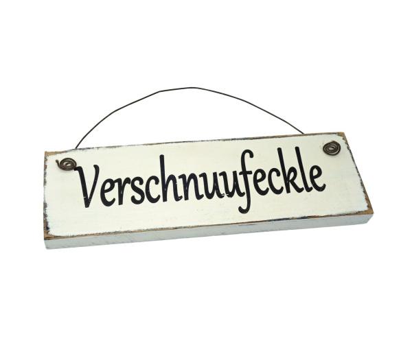 Verschnuufeckle Schwarzwald Holzschild Vintage Look