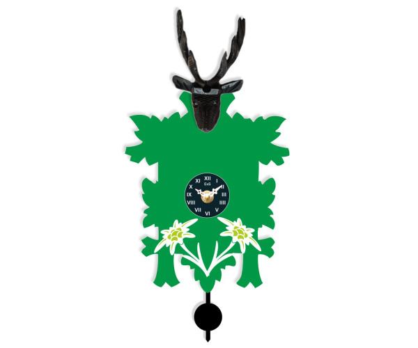 Trenkle Kuckulino Quarz-Kuckucksuhr 3009 PQ Edelweiß grün