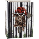 Geschenktasche Schwarzwälder Kuckucksuhr mit Bollenhut