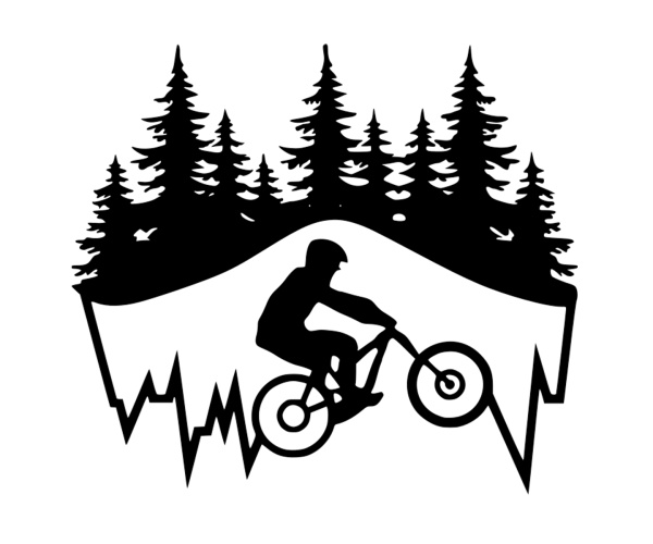 Wandbild Metallbild Mountainbiker, ca. 60 x 50 cm
