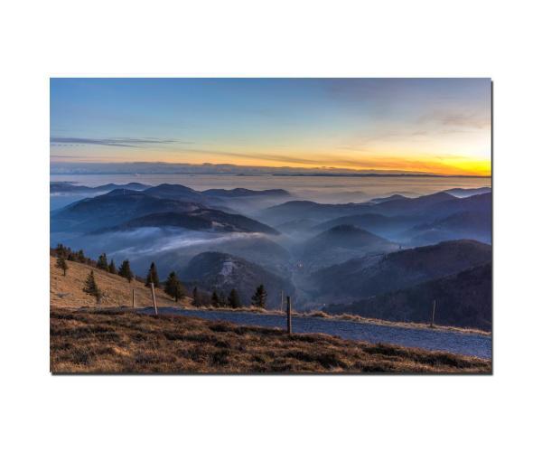 Fotodruck Schwarzwald Belchenblick Richtung Schweiz
