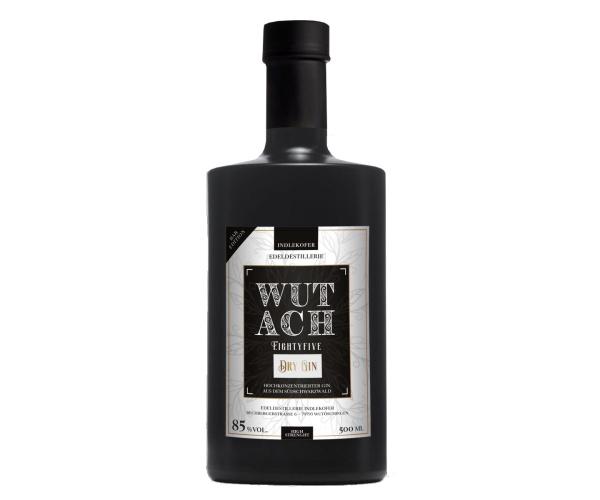 Indlekofer WUTACH Eightyfive Dry Gin, Stärkster Gin Deutschlands, 500 ml