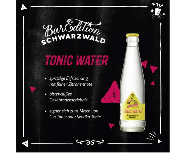 Schwarzwaldsprudel Tonic Water Premium 0,25 l Flasche