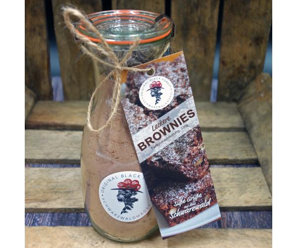 Schwarzwald Brownies im WECK-Glas, Backmischung