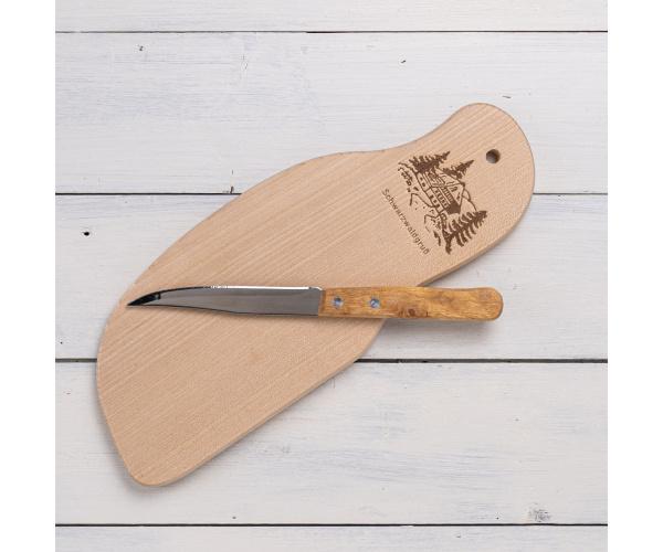 Vesperbrett Schneidebrett incl. Messer Ahorn, 27x10x1 cm
