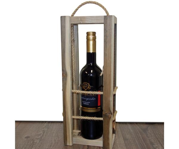 Schwarzwald-Trage Altholz für 1 Flasche Wein